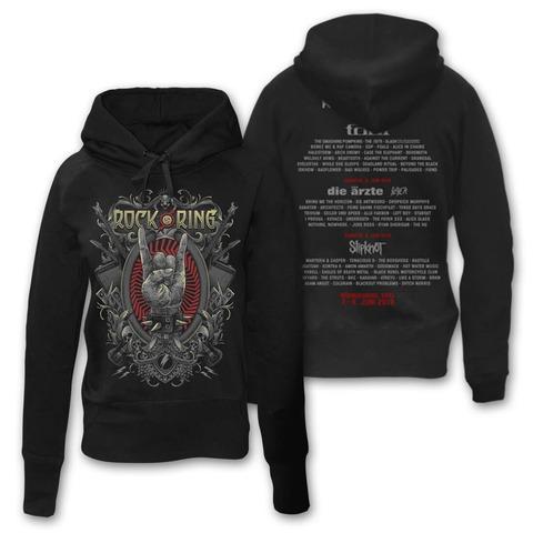 √Rock Crest von Rock am Ring Festival - Girlie hooded sweater jetzt im Rock am Ring Telekom Magenta Shop